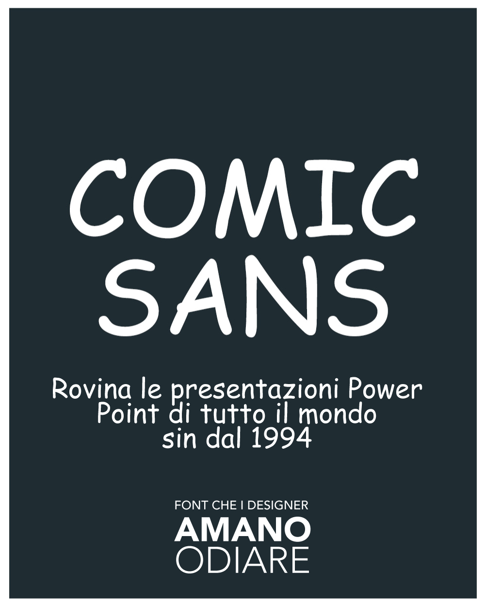 Comic Sans - Rovina le presentazioni Power Point sin dal 1994
