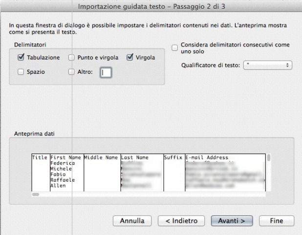 Export contatti Linkedin step 4